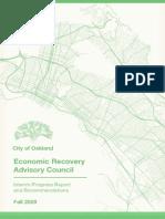 Oakland Economic Recovery Advisory Council Interim Report