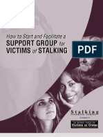 How to Start and Facilitate a Support Group for Victims of Stalking
