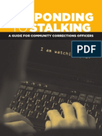 Responding to Stalking a Guide for Community Corrections Officers