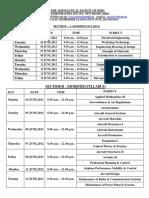 Date Sheet June 2012