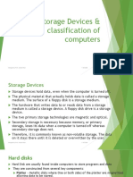 5 storage devices and classification of computers