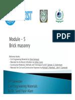 Module - 5 Bricks