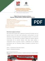 Taller para atravesar la página en blanco (online). Imparte: Gonzalo Soltero y Claudia Chibici