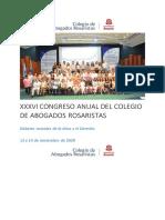 XXXVI Congreso Anual Del Colegio de Abogados Rosaristas