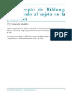 AGCID El Concepto de Bildung - Murillo 2020