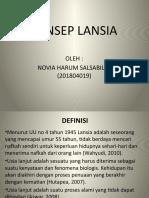 Tugas Ppt Konsep Lansia (Novia Harum s. 201804019)