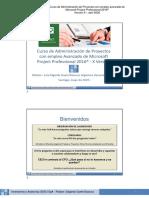 Curso de Administración de Proyectos con empleo avanzado de MS Project 201