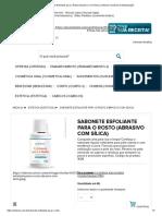 Sabonete Esfoliante para o Rosto (Abrasivo Com Sílica) _ Viderma Farmácia de Manipulação
