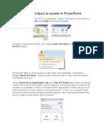 Cum se adaugăclipuri si sunete în PowerPoint