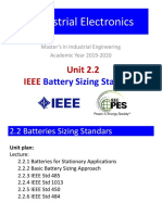 Unit 2.2 - IEEE Batteries Sizing Standards
