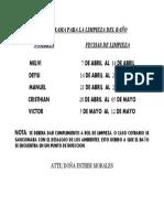 CRONOGRAMA PARA LA LIMPIEZA DEL BAÑO.docx