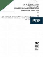 la planificación del desarrollo agropecuario un enfque para Amérca Latina vol 1