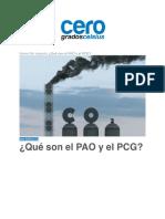 Que son el PAO y el PCG