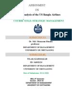 SWOT Analysis of US Bangla Airlines