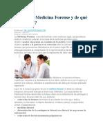 Qué es la Medicina Forense y de qué se encarga