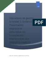 Evidencia Presentación empresarial Determinar los fundamentos empresariales que estipula la medición