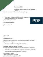Lengua y Literatura 1º año Cuarentena