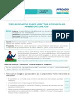 FICHA DE AUTOAPRENDIZAJE MATEMÁTICA -SESION EVALUACIÓN PRIMER GRADO