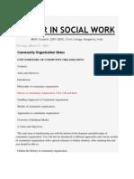 MASTER IN SOCIAL WORK