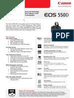 EOS 550D Tech Sheet