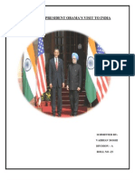 IMPACT OF PRESIDENT OBAMA'S VISIT TO INDIA