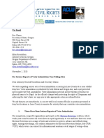 Or- Voter Intimidation Letter to AG and SOS 11-1-20