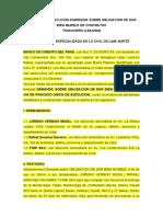 DEMANDA MEDIANTE PROCESO UNICO DE EJECUCION