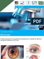 O Microscópio biologia 10ºano