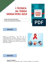 NORMA TECNICA NACIONAL TARGA MINSA-PERU 2019