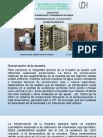 CLASE 15 CONSERVACION Y ALMACENAMIENTO DE MUESTRAS (1)