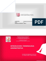 SEMANA 1 - Practica (INTRODUCCION TERMINOLOGIA ADM.)