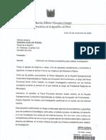 Carta Vizcarra a Avalos