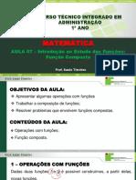 Aula 07 - Introdução ao Estudos das Funções - Função Composta