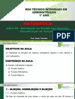 Aula 09 - Introdução ao Estudos das Funções - Classificação de funções