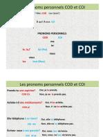 8ºano Les Pronoms COD Et COI