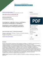 Investigación cualitativa versus cuantitativa_ ¿dicotomía metodológica o ideológica_