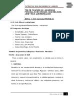 INFORME - SEGUIMIENTO A LA EMPRESA MONTEFINO - REALIDAD NACIONAL E INTERNACIONAL
