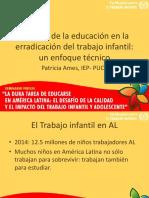 El papel de la educación en la erradicación del trabajo infantil