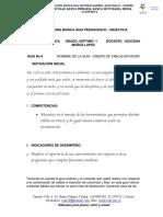 GUIA No. 8  DE INFORMATICA  7-1  TABLAS