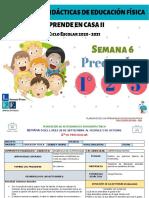 1°, 2° y 3° Preescolar EF Semana 6- LEF Antonio Preza