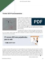 Tiristor SCR Funcionamiento - MrElberni