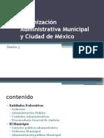 Organización Administrativa Municipal y Ciudad de México