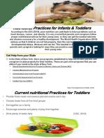 nutritional practices handout