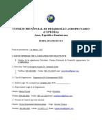 Perfil del Proyecto de Fortalecimiento Institucional del Sector Agropecuario de la Provincia de Azua VERSION APROBADA