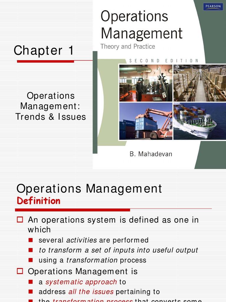 1 operations management | operations management | supply chain