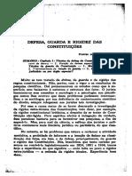 PONTES DE MIRANDA, Francisco Cavalcante. Defesa, guarda e rigidez das constituições - Parte I