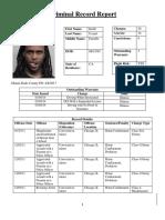 Criminal Record Report