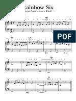 Rainbow Six - Partitura fácil para piano