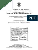 FIORENTINO, Giuseppe • Música española del Renacimiento. Entre tradición oral y transmisión escrita (Granada, 2009)