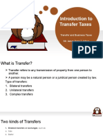 Introduction to Transfer Taxes